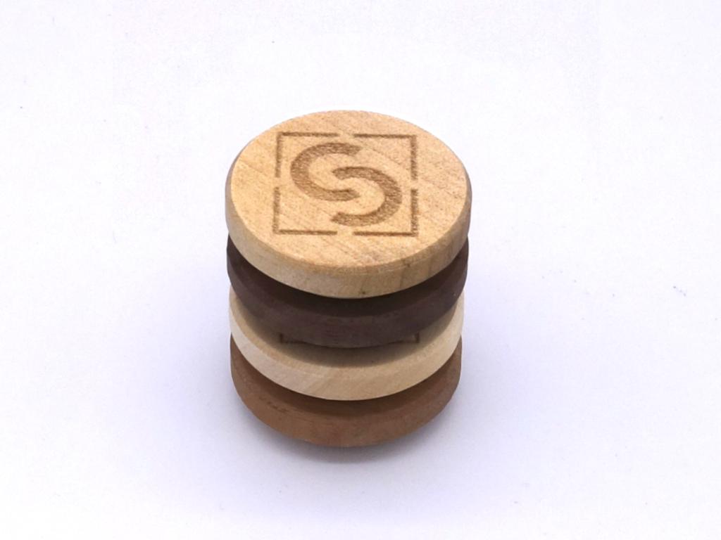 Stapel Holz-Tafelmagnete