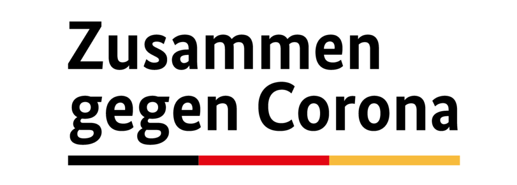 Logo: Zusammen gegen Corona